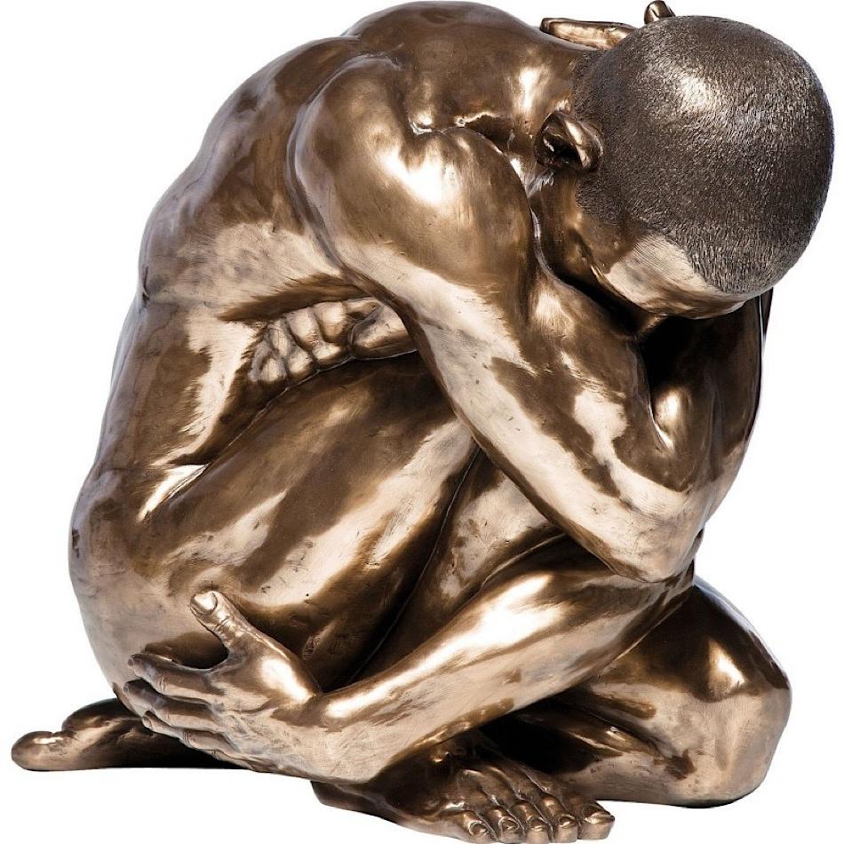 Décoration sculpture homme bronze
