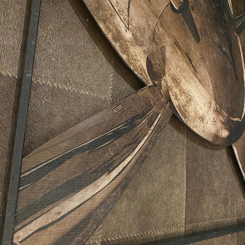 Tableau métal avion hélice