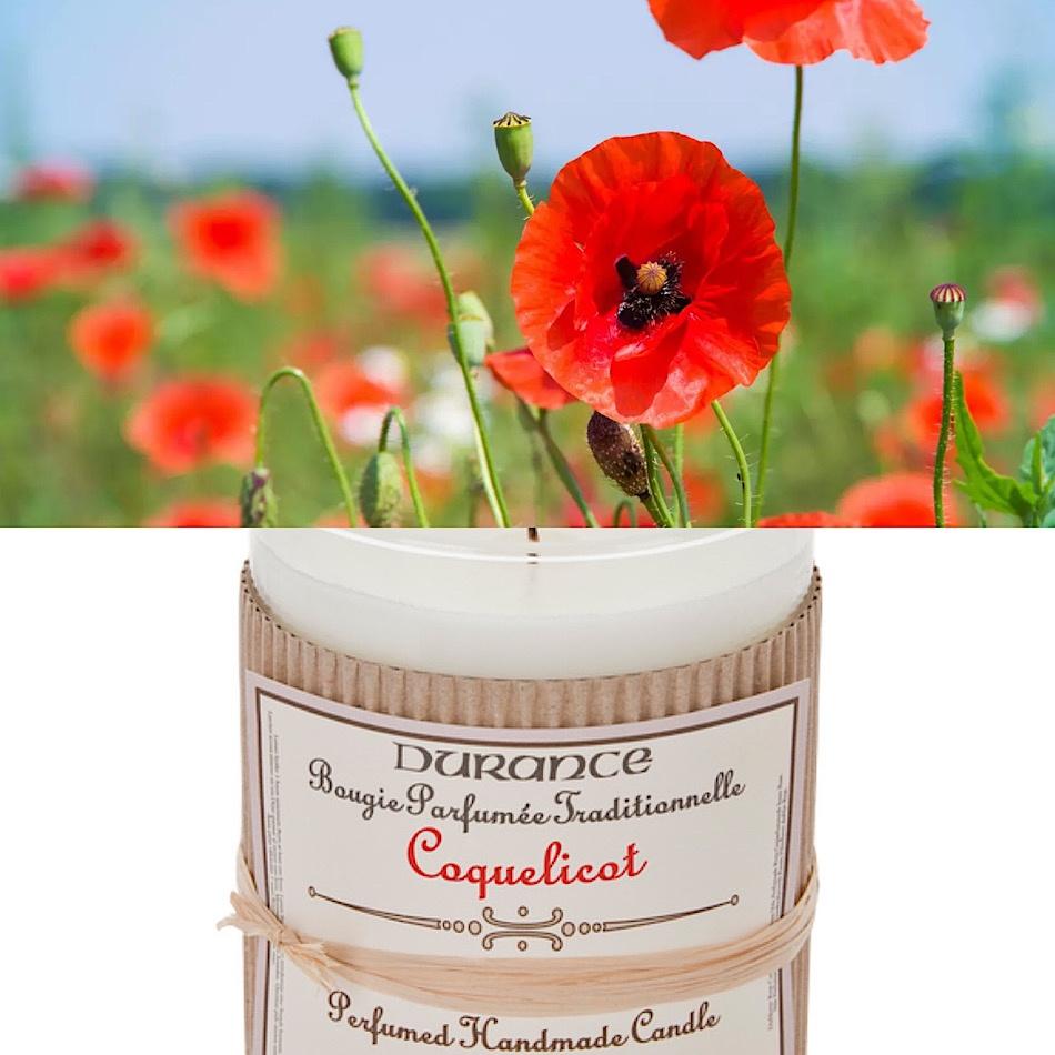 Bougie Parfumée Durance Coquelicot