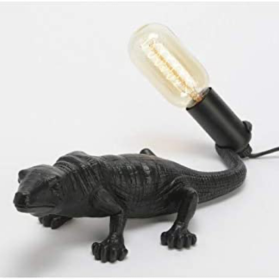 Lampe Lézard noire