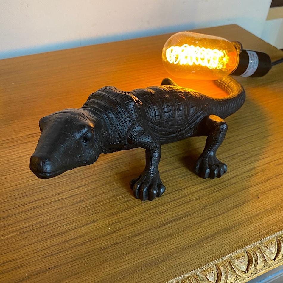 Lampe Lézard noire original
