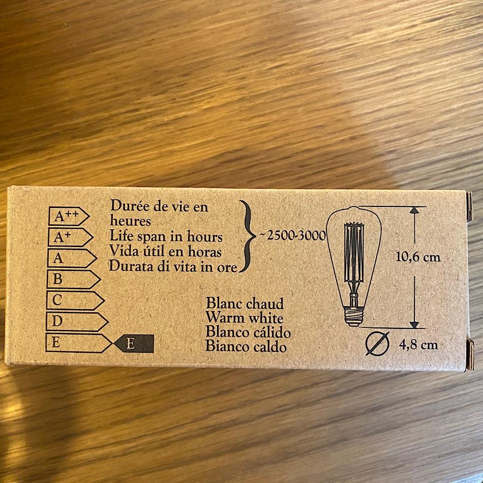 Ampoule décorative à filament E14