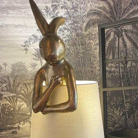Lampe Lapin Or