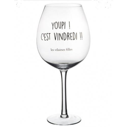 """Verre à vin XL """"Les Vilaines Filles"""""""