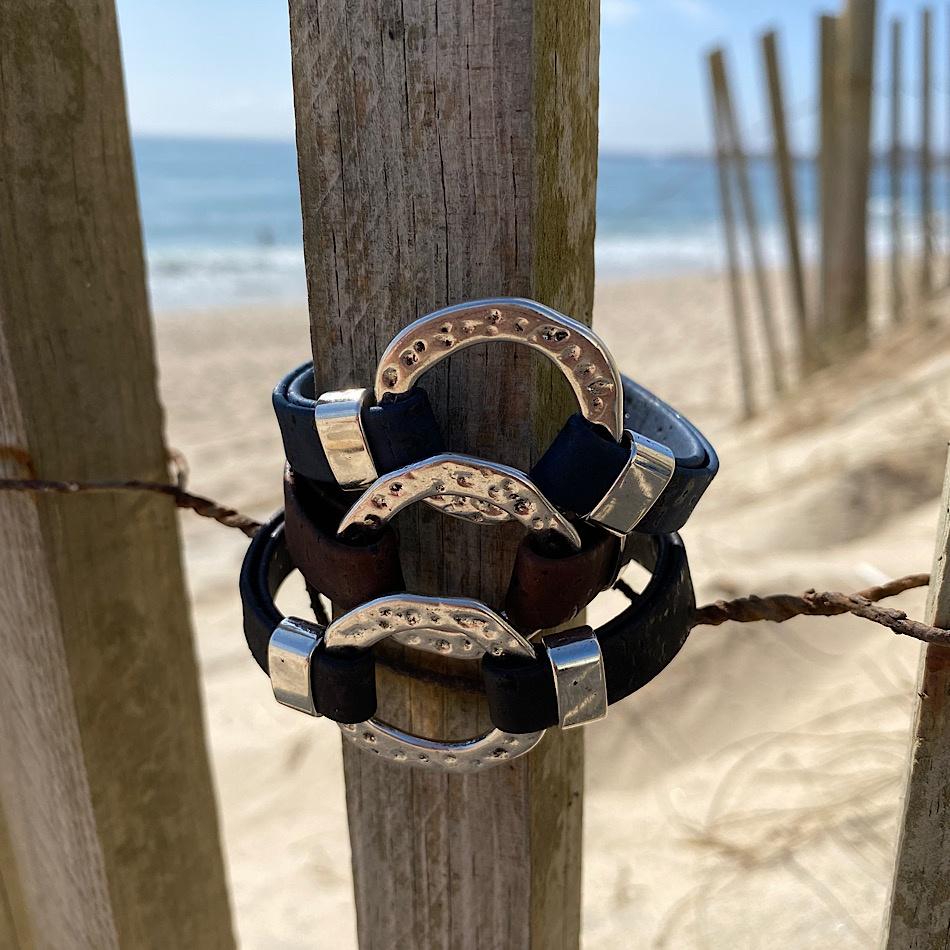 Bracelet liège et métal