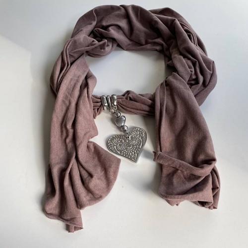 Écharpe - bijoux cœur alu